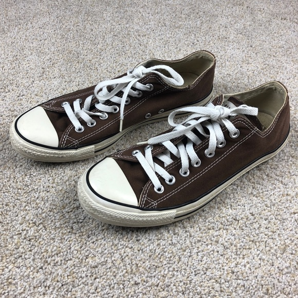 Brown Low Top Converse Chuck Taylor Shoes